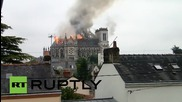 France: Blaze engulfs Basilica of St. Donatien in Nantes