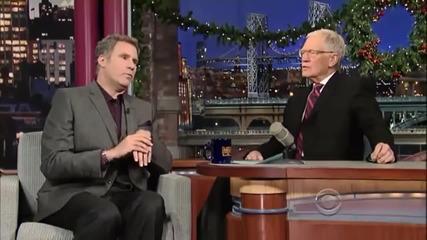 Уил Ферел на интервю при Дейвид Литерман 16 декември 2013