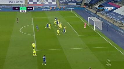 Лестър Сити - Нюкасъл Юнайтед 0:2 /първо полувреме/