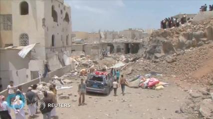 Saudi-led Planes Attack Yemen Capital, Six Reported Killed
