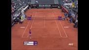 Simona Halep vs Alexandra Dulgheru Rome 2015 part 1