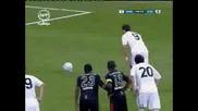 Cristiano Ronaldo - The first goal in Real Madrid Real Madrid 4 - 2 Liga de Quito 28.07.09