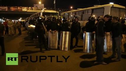 Протестиращи искат освобождаването на активисти в Украйна