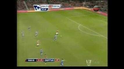 """""""Юнайтед"""" с 12 точки аванс на върха след победа с 2-0 срещу """"Евъртън"""""""