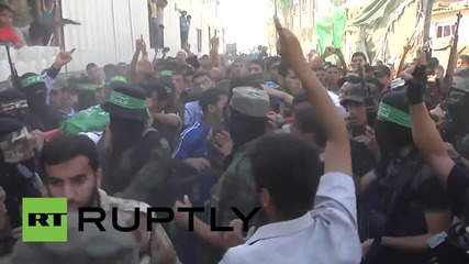 State of Palestine: Funeral held for victims of exploded Israeli rocket *GRAPHIC*