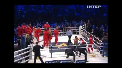 Драматичната победа на Кличко над Пулев