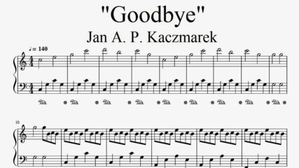 """Goodbye — Hachiko"" - Piano sheet music (by Tatiana Hyusein)"