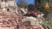 Italy: Bulldozers set to shifting rubble after earthquake devastates Pescara
