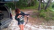 Hottie shooting an Ar-15