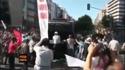 Кадри от протестите срещу фашисткия режим на Ердоган