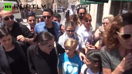 Angelina Jolie Arrives in Turkey for World Refugee Day