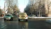 Шофьор на такси прави як обратен завой