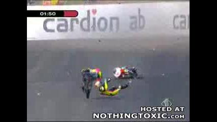 Ужасяваща Катастрофа От Moto Gp ! ( Боли )