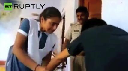 Police Watch as Schoolgirl Beats and Humiliates Harrasser