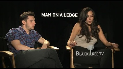 Man On A Ledge with Genesis Rodriguez and Jamie Bell - Interview