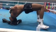 Anthony Joshua Doing The Mike Tyson Neck Roll. Don't try this at home !