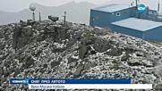 Сняг заваля на връх Мусала