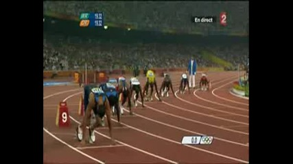 Лека Атлетика-Пекин 2008 - 200м Финал - Юсаин Болт 19.30 WR