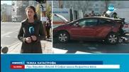 Жена загина при сблъсък на три коли в София