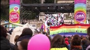 Italy: Thousands of LGBT activists rally against civil union bill in Rome