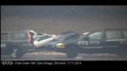 Ето какво се случва когато кола се удари с 200 км/час!