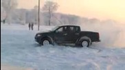 Opel Frontera Off - road drift на сняг