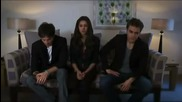 The Vampire Diaries Itv2 Interview - Nina Dobrev, Paul Wesley, Ian Somerhalder