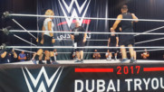 A WWE tryout gets underway in Dubai