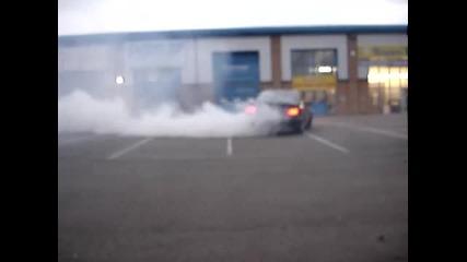 Ето това е Burnout!!! Bmw E34 540i V8