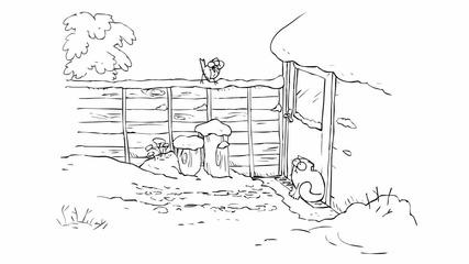 Simon's Cat in Snow Business'