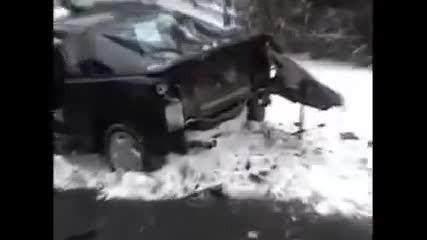 Ето така Не трябва да се връзва кола, най-лесното премахване на задница.