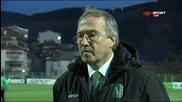 Дерменджиев: Не влязохме добре в мача