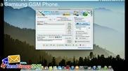 Mac с Samsung вълна Gsm Телефон изпрати неограничен текст Известия