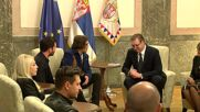 Serbia: Johnny Depp meets President Vucic on visit to promote animated series