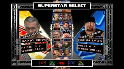 Wwe Raw Ultimate Impact 2011: Randy Orton vs Luke Gallows (my gameplay)