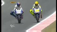 Valentino Rossi vs Lorenzo в Catalunya