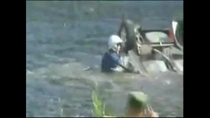 Много Тежка Рали Катастрофа В Езеро!