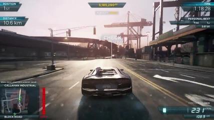 Nfs Mw2012 / 16-километрова отсечка с Lamborghini Aventador