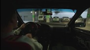 Шофьор на В М W излиза с як дрифт от подземен гараж!
