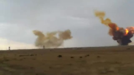 Камера засне взривяването на руска ракета