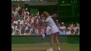 Hana Mandlikova vs Chris Evert. Wimbledon 1986
