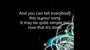 your song (janet devlin cover with lyrics)