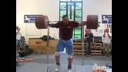 Вдигане на 290 кг. без ръце