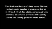 Rockford Fosgate Rtti - Setting amplifier gain