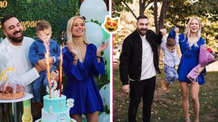 2 пъти по-голям: Тото и Кристин кръстиха сина си за рождения му ден