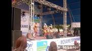 Танцово изпълнение по Гергана - Ясно слънце на предизборен концерт в Хасково на 17.06.09
