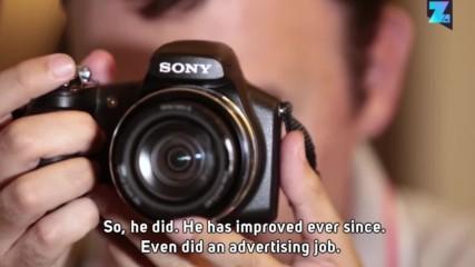 Незрящ мъж работи като фотограф повече от 10 г.