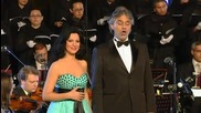 Andrea Bocelli et Angela Gheorghiu - Libiamo ne lieti calici (concerto al Colosseo 2009)