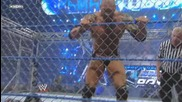 Wwe Smackdown 15.01.10 Batista vs Rey Mysterio (във стоманена клетка)