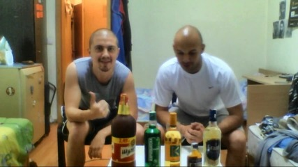 Drinking challenge for Stanoev, Marinov and Kolev